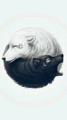 Wolf tattoos, images, designs and meanings - lobos :D - İmages Wolf Tattoos, Teen Wolf Tattoo, Yin Yang Tattoos, Small Wolf Tattoo, Wolf Wallpaper, Animal Wallpaper, Fantasy Wolf, Fantasy Art, Urban Tattoos
