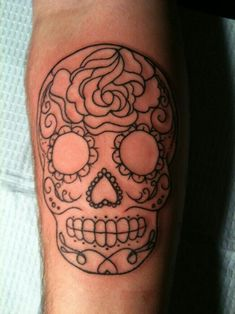 Simple cute sugar skull