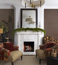 Warm Winter Living Room | photo Michael Graydon | design Stacey Smithers & Joel Bray | House & Home.  I love the Jonathan Adler light.