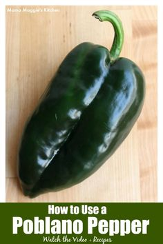 To cook authentic Mexican food, you need to know how to use a poblano pepper. Learn how to roast and use one of Mexico's beloved and popular chile pepper. SEE VIDEO. By Mama Mama Maggie's Kitchen #mexicanfood #mexicanfoodrecipes #mexicanrecipes