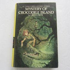 Nancy Drew Mystery Of Crocodile Island, Vintage Carolyn Keene Hardcover Book First Edition Nancy Drew Mystery Stories, Nancy Drew Mysteries, Nancy Drew Books, Light Covers, Classic Books, Paperback Books, Crocodile, Book Covers, Island