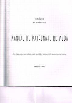Libro manual de patronaje de moda completo