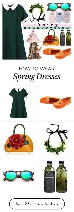 """""""a fairy-wear on summer"""" by levinabarinda on Polyvore featuring Top Collection, Nails Inc., AMBRE, contest, shirtdress, girl and contestentry"""