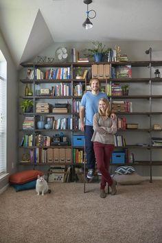 DIY Industrial Shelves on a Budget
