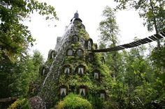 If I ever travel to Chile - Magic Mountain Hotel in Huilo Huilo nature reserve in Southern Chile.
