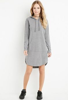 Hooded Sweatshirt Dress | Forever 21 - 2000171838