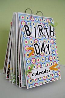 "I really need to get on this!  It's been on my ""to-Do"" list for like three years!  Birthday reminder binder"