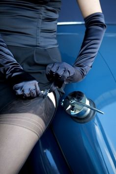 Driving Gloves + Stockings