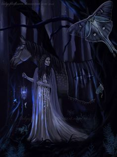 Aredhel lost in Nan Elmoth by Ladyoftheflower on DeviantArt