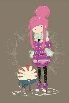 Princess Bubblegum and Peppermint Butler