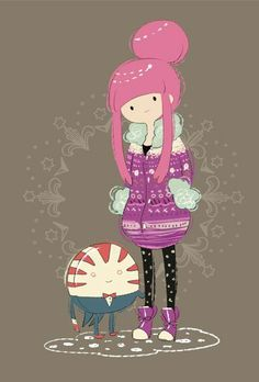 Princess Bubblegum and Peppermint Butler