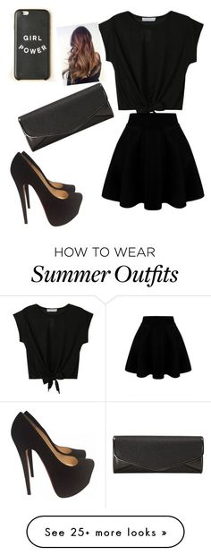 """""""My First Polyvore Outfit"""" by kimberly-van-den-vonder on Polyvore featuring Christian Louboutin, J. Furmani, women's clothing, women, female, woman, misses and juniors"""