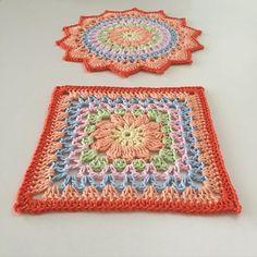 From mandalas to square 🌸Little cherry blossom square 🌸 cotton yarn: järbo 8/4 Hook:2,5 🌸 #crochet_millan Design 💞