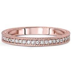 VS 1/5CT Diamond Wedding Ring Vintage Milgrain Antique by Pompeii3, $339.99