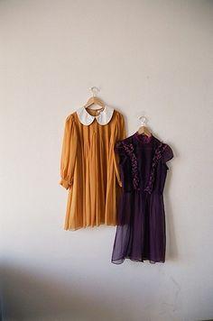 mustard and purple