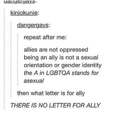 There is no letter for ally.