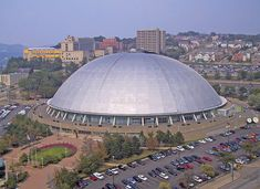 Civic Arena a.k.a. Mellon Arena a.k.a. The Igloo - Old Home Of The Pittsburgh Penguins NHL Hockey Team; Pittsburgh, PA