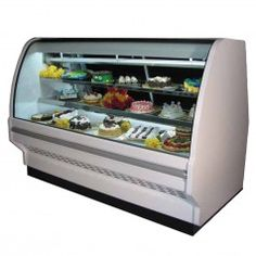 "Howard McCray (SC-CBS40E-4C-LS) 51"" Wide Refrigerated Bakery Display Case with Two Rear Sliding Glass Doors"