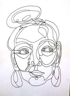 Line drawing by Meeri Waara Contour Line, Line Drawing, Line Art, Faces, Drawings, Line Drawings, The Face, Sketches, Drawing