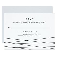 Lineation RSVP Card | Black and White