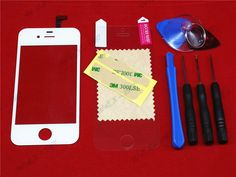 White Front Glass Lens + Touch Screen Digitizer For iPhone 4 4S 4G Replacement for Mobile Phone LCD Screen Case