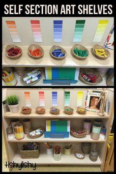Colour sorted art area