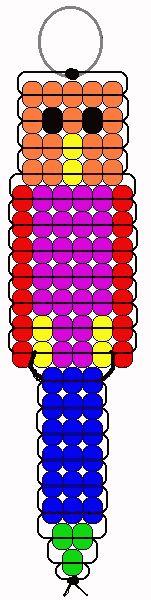 Parrot pony beads pattern
