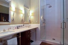 bathroom- open vanity with separate drawers
