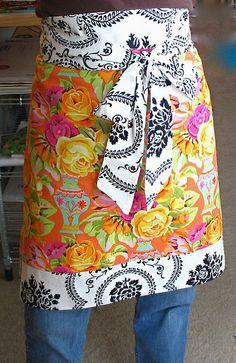 Love this combination of fabrics!