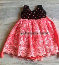 Red Black Floral Frock | Indian Dresses