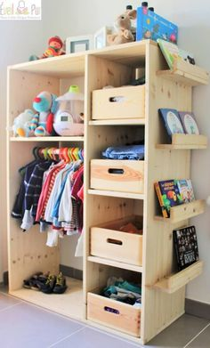 super duper cupboard stores everything for a toddler need #kids #room #decor
