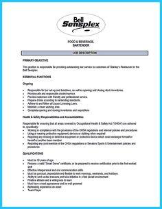 ... bartender resume template word and bartender sample resume template
