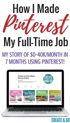 How I quit my job, started blogging to make money online, and reached $10k/month in less than a year using Pinterest! http://createandgo.co/pinterest-job-make-money-online/
