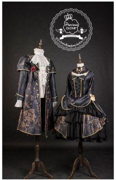 Previous Clove ~Unicorn Maiden~ Hime Sleeved Lolita OP Dress - My Lolita Dress Harajuku Fashion, Lolita Fashion, Gothic Fashion, Estilo Lolita, Old Fashion Dresses, Fashion Outfits, Lolita Gothic, Looks Dark, Couple Outfits