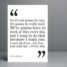 The Notebook Movie Quote. Typography Print. by silvermoonprints, $10.00