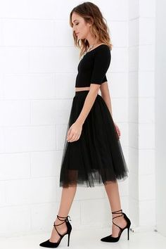 Jupon en tulle : Urban Fairy Tale Black Tulle Skirt