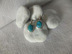 Boucles d'oreilles Avec véritable Turquoise