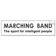 marching band stickers   Marching Band Sport Bumper Stickers from Zazzle.com