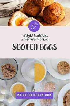 These wonderful filling Scotch Eggs are made with turkey mince and are oven baked making them an ideal Weight Watchers lunch recipe. At just 2 Smart Points per Scotch Egg on Blue Weight Watchers Pasta, Weight Watchers Lunches, Weight Watchers Desserts, Ww Recipes, Lunch Recipes, Egg Weight, Turkey Mince, Scotch Eggs, Scotch Whiskey