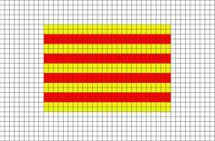 Flag of Catalonia Pixel Art