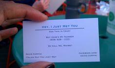 an effective business card