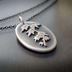 Sterling Silver Vine Branch Necklace by Lisa Hopkins Design