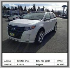 2012 Ford Edge Sport SUV  Digital Keypad Power Door Locks, Four 12V Dc Power Outlets, Split Rear Bench, Front Shoulder Room: 58.9, Rear Head Room: 39.3, Curb Weight: 4, Instrumentation: Low Fuel Level, Wheel Width: 9, Braking Assist, Body-Colored Bumpers, Wheel Diameter: 22, Sync, Tachometer, Total Number Of Speakers: 12, Overhead Console: Mini With Storage
