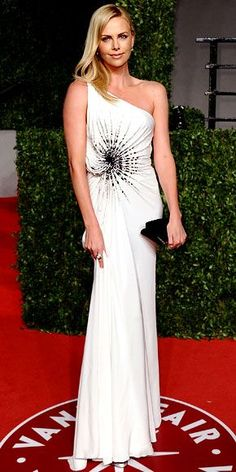 Charlize Theron wearing Versace