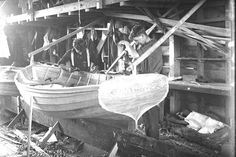 Boat House, The Hard Way, Wooden Boats, Boat Building, Vintage Images, Sailing, Workshop, Black And White, Gallery