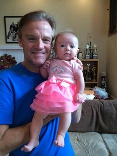 Kenny Wallace with grandaughter Lottie 2016