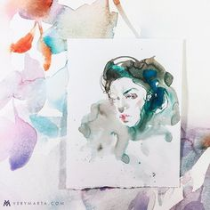 227 Likes, 27 Comments - Marta Spendowska Abstract Watercolor Art, Watercolor Illustration, Watercolor Paintings, Wall Art Prints, Fine Art Prints, Painting Frames, Painting Inspiration, Landscape Paintings, Framed Art