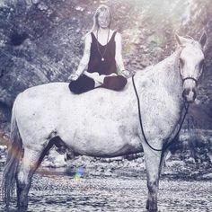 How My Horse Taught Me About Inner Peace <3 Kladruber horse, zen, meditation. Horseback yoga.