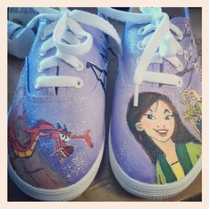 Custom Disney Mulan shoes by whimsyrogue on Etsy, $125.00