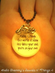 NEW! Sons of Anarchy Quote Necklace with Motorcycle Charm by HelloShammys, $14.00